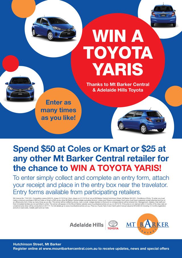 Win a Toyota Yaris - Competition